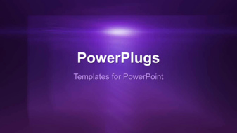 PowerPoint Template - An Abstract rotating background
